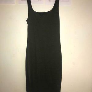 Zara Olive green bodycon dress